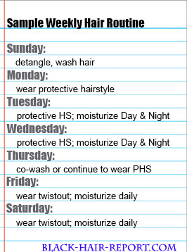 Weekly Natural Hair Style Routine
