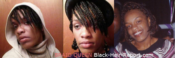 Grow black hair with braids